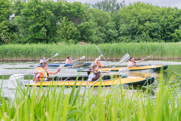 В Тамбове прошёл традиционный заплыв по Цне: победили математики из Державинского университета