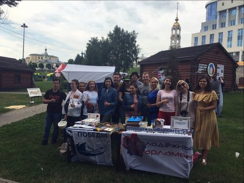 Молодежный совет при Тамбовской городской Думе принял участие в Межведомственном фестивале детского творчества