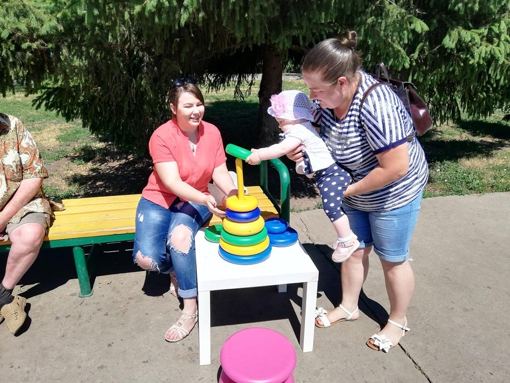 На севере Тамбова устроили праздник в честь прошедшего Дня защиты детей