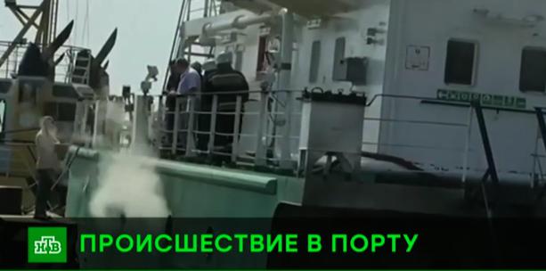 При взрыве на танкере в порту Махачкалы пострадал 38-летний тамбовчанин