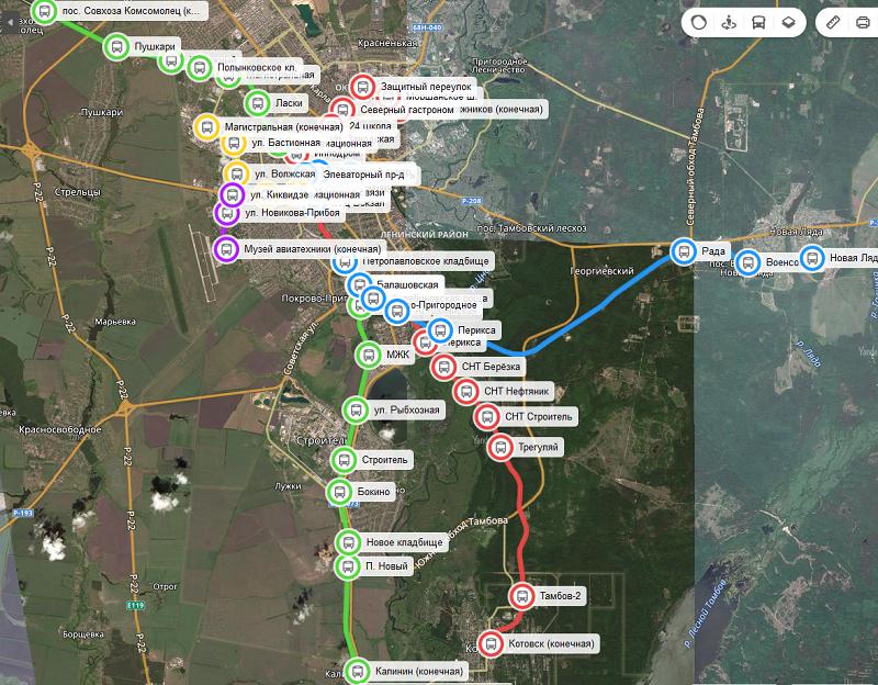 Тамбовчане попросили изменить маршрут городского рельсового автобуса