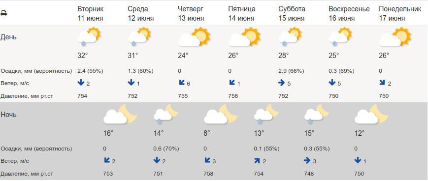 В ближайшие часы в Тамбовской области ожидаются грозы и сильный ветер