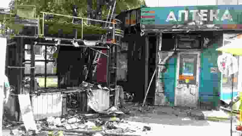 В Тамбове у «Акварели» сгорела торговая палатка