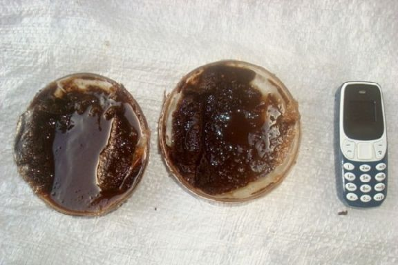 В тамбовскую колонию пытались доставить телефон в мёде и орехах