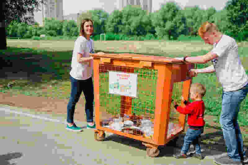 На первом экологическом квесте в Тамбове собрали почти 100 кг пластиковых отходов