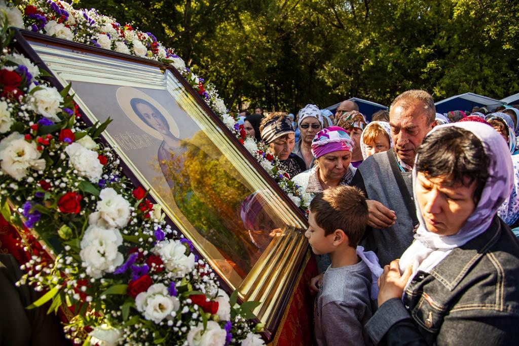 В Пантелеимоновском скиту прошла Божественная литургия