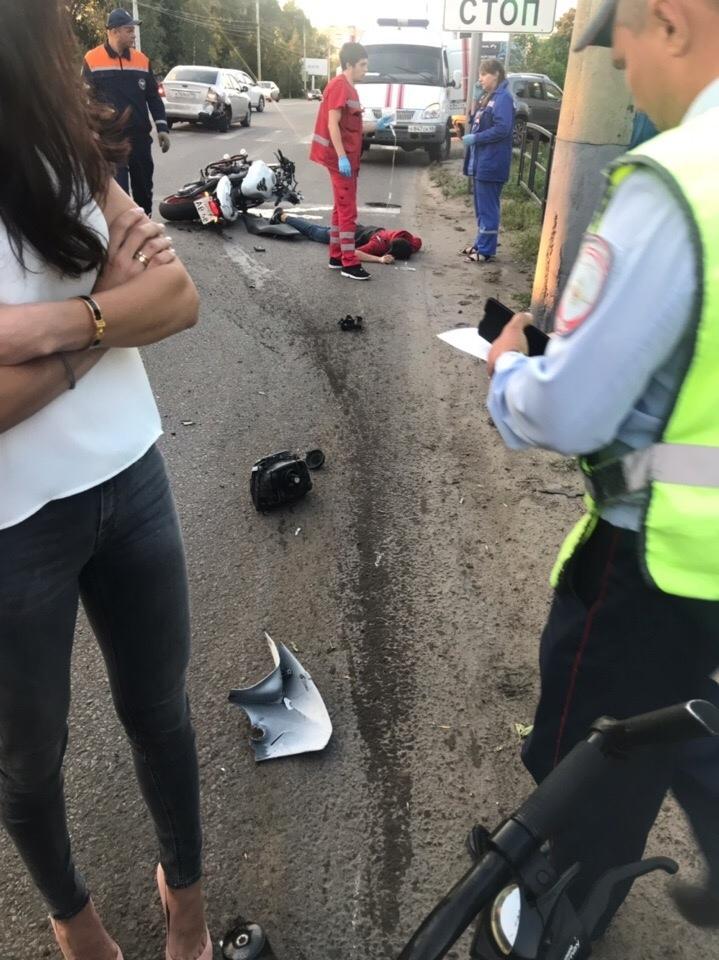 В Тамбове мотоциклисту в ДТП оторвало ногу