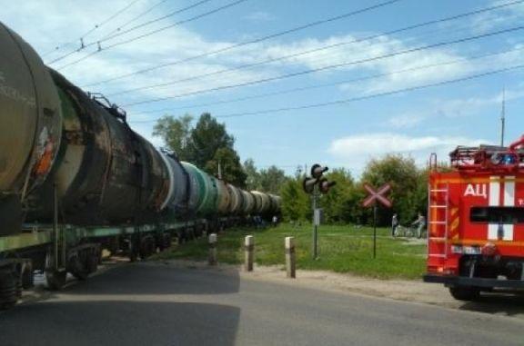В Тамбове продолжают ликвидировать последствия ЧП с грузовым поездом