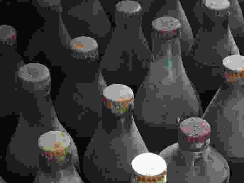 В Тамбовской области раскопали больше сотни бутылок с непонятной жидкостью