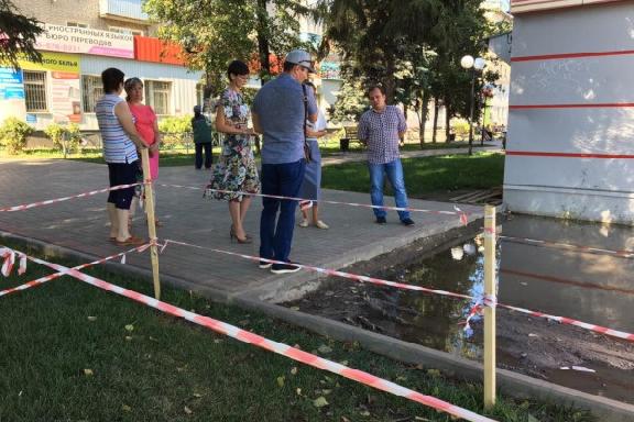 """Возле сквера """"Речной"""" на западе Тамбова заасфальтируют участок улицы"""
