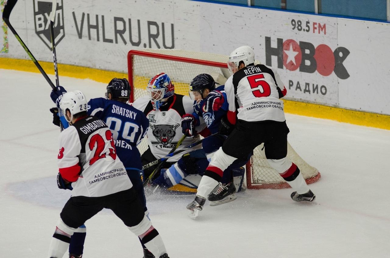 """ХК """"Тамбов"""" забрал свои первые очки нового сезона в овертайме"""