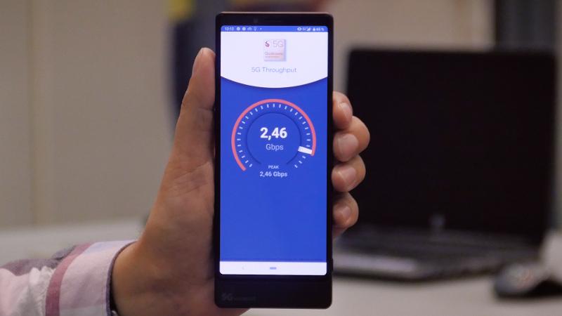 МегаФон достиг 2,46 Гбит/с на 5G-смартфоне