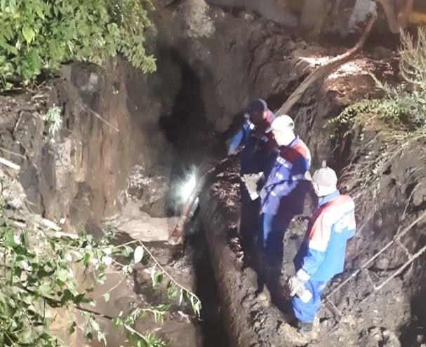 На севере Тамбова устранили повреждение магистральной сети: подача холодной воды возобновляется