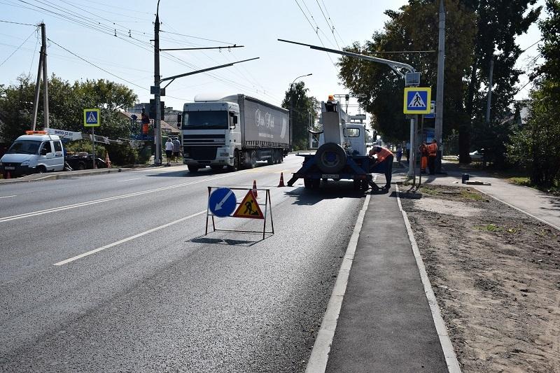 На улице Авиационной в Тамбове установили новый светофор