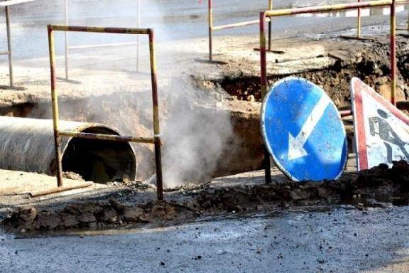В Тамбове на улице Рылеева произошла коммунальная авария