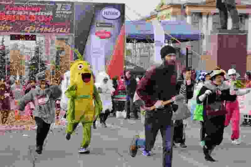 Тамбовские спортсмены-динамовцы пробежали вместе с олимпийскими чемпионами и звёздами шоу-бизнеса марафон в Липецке