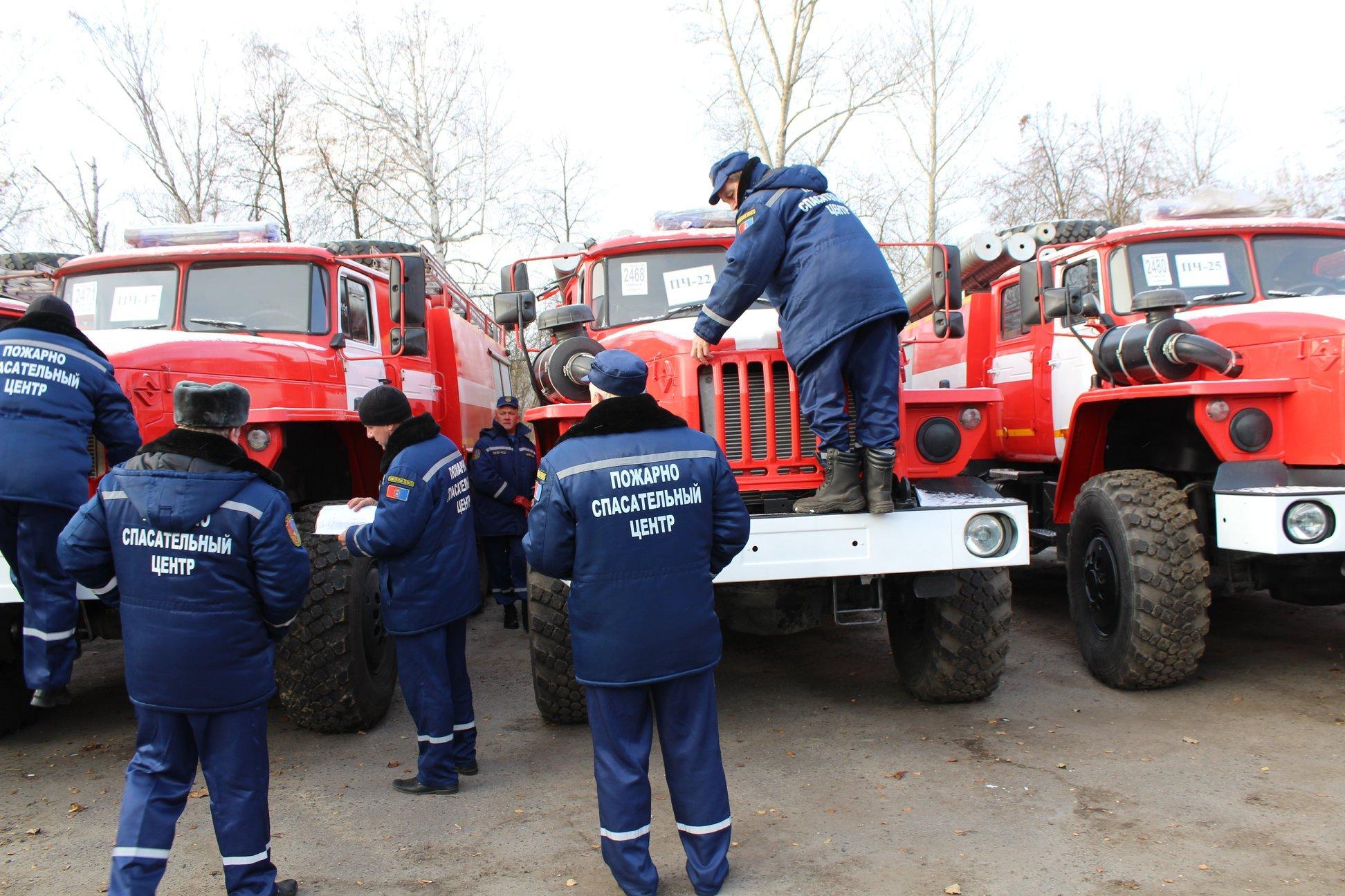 Автопарк пожарно-спасательного центра пополнился 15 новыми спецмашинами
