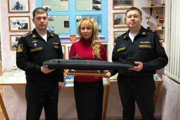 """Наталия Макаревич встретилась с командиром атомной подводной лодки """"Тамбов"""""""