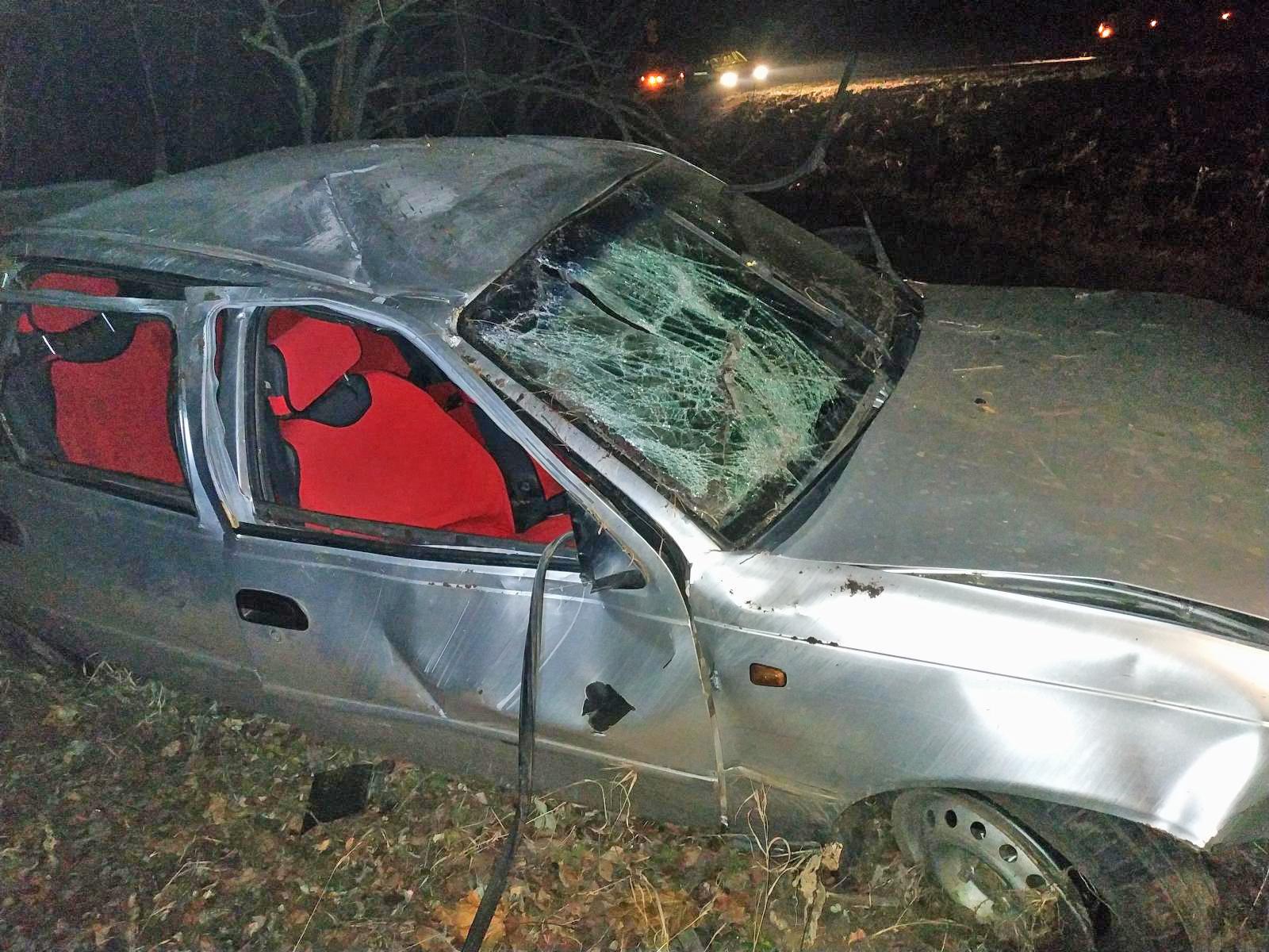 В Первомайском районе иномарка вылетела в кювет: есть пострадавшие