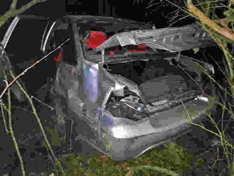 В Тамбовской области водитель на иномарке перевернулся в кювет: пострадали двое молодых людей