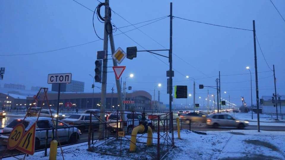 На севере Тамбова установили новый светофор