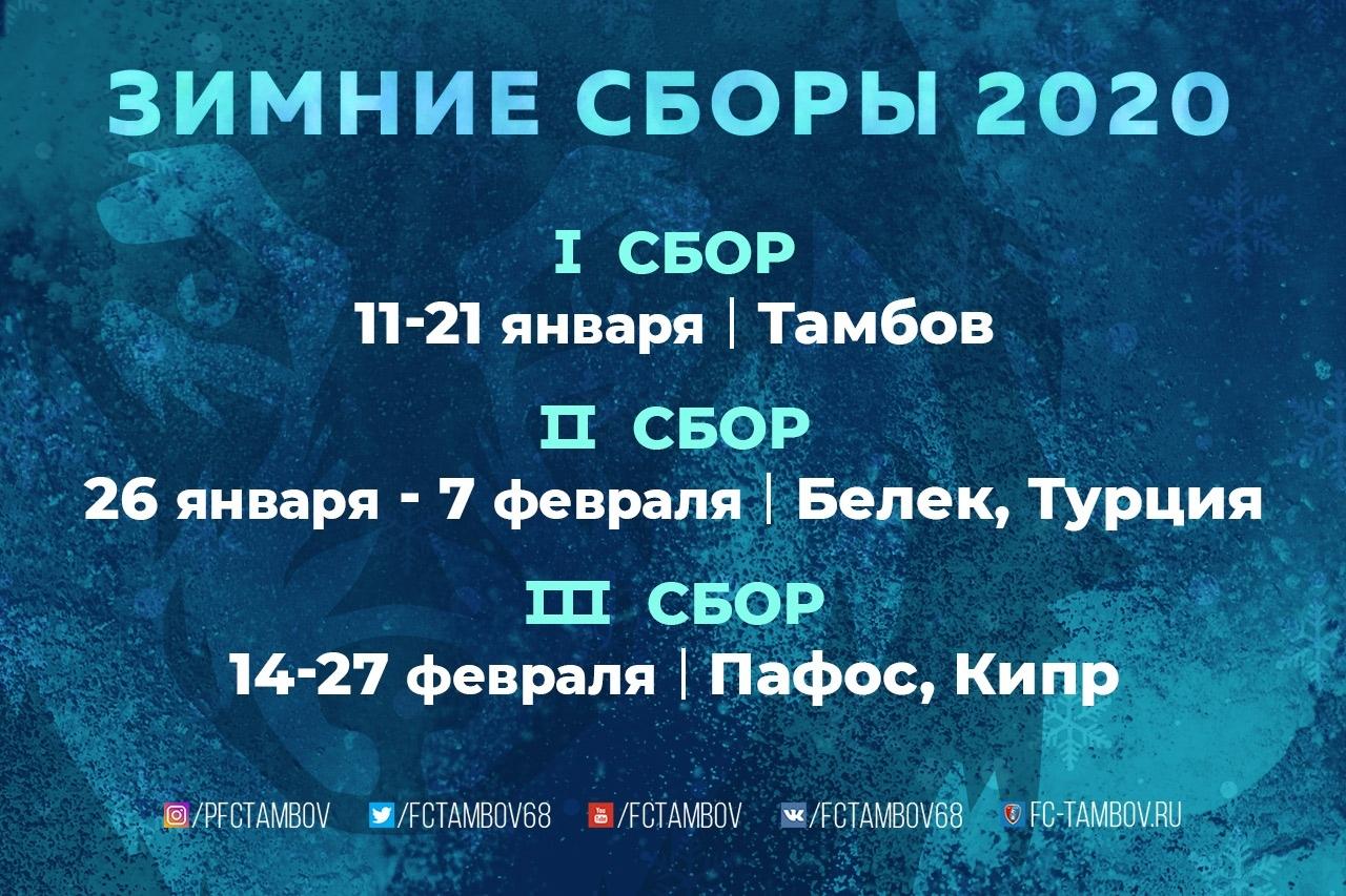 """Стало известно, как ФК """"Тамбов"""" будет готовиться к старту весенней части сезона"""