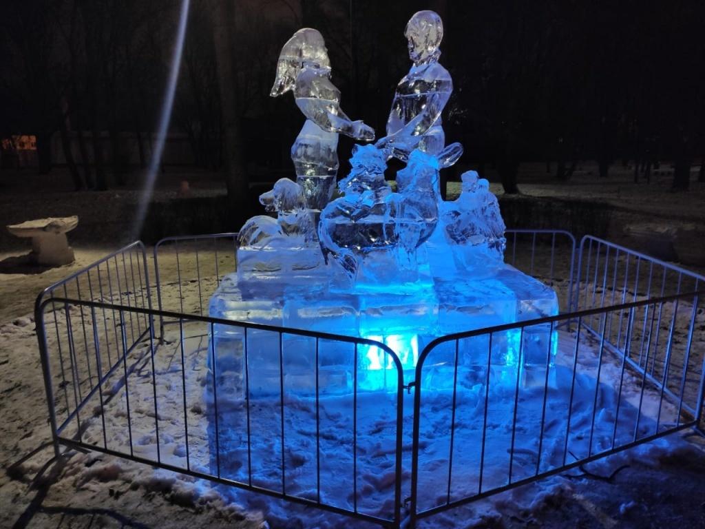В Тамбове открылась традиционная выставка ледяных скульптур