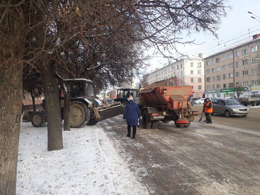 В Тамбове убрали более 500 кубометров снега