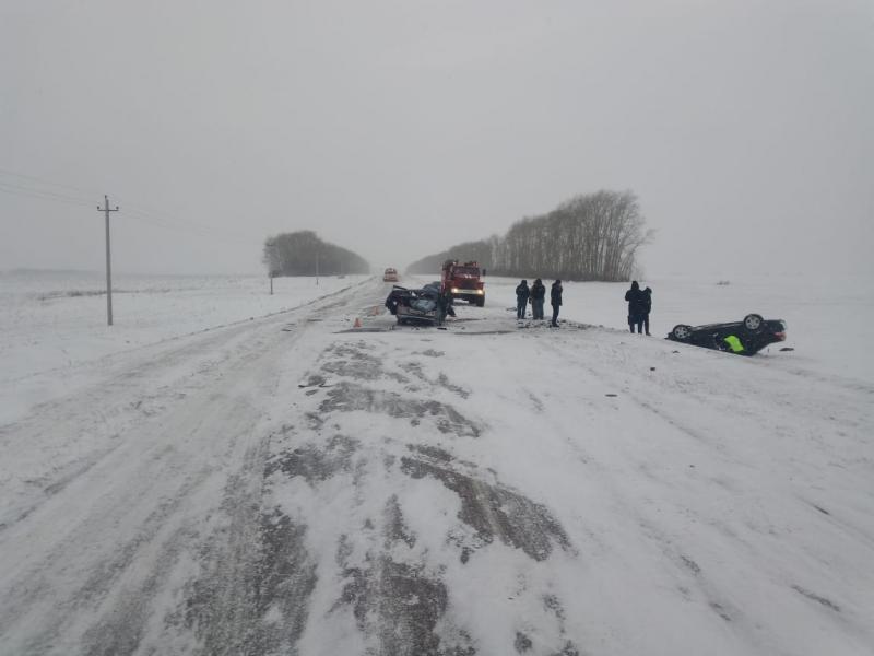 В Тамбовской области столкнулись две легковушки: погибло три человека