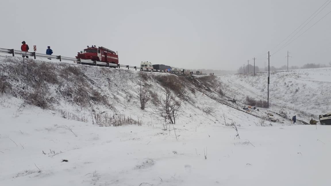 15 человек пострадали, 3 погибли в ДТП с участием двух автобусов под Тамбовом