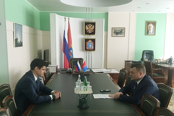 Александр Никитин провёл встречу с руководителем Тамбовского отделения Сбербанка