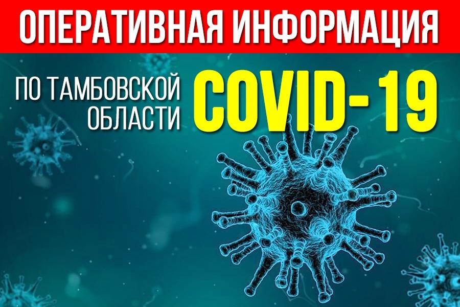 Коронавирус в Тамбовской области: оперативная информация на 17 часов вечера