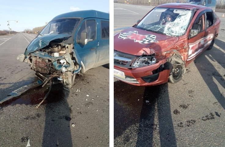 На трассе в Тамбовской области пенсионерка на микроавтобусе врезалась в такси: пострадали две пожилых женщины
