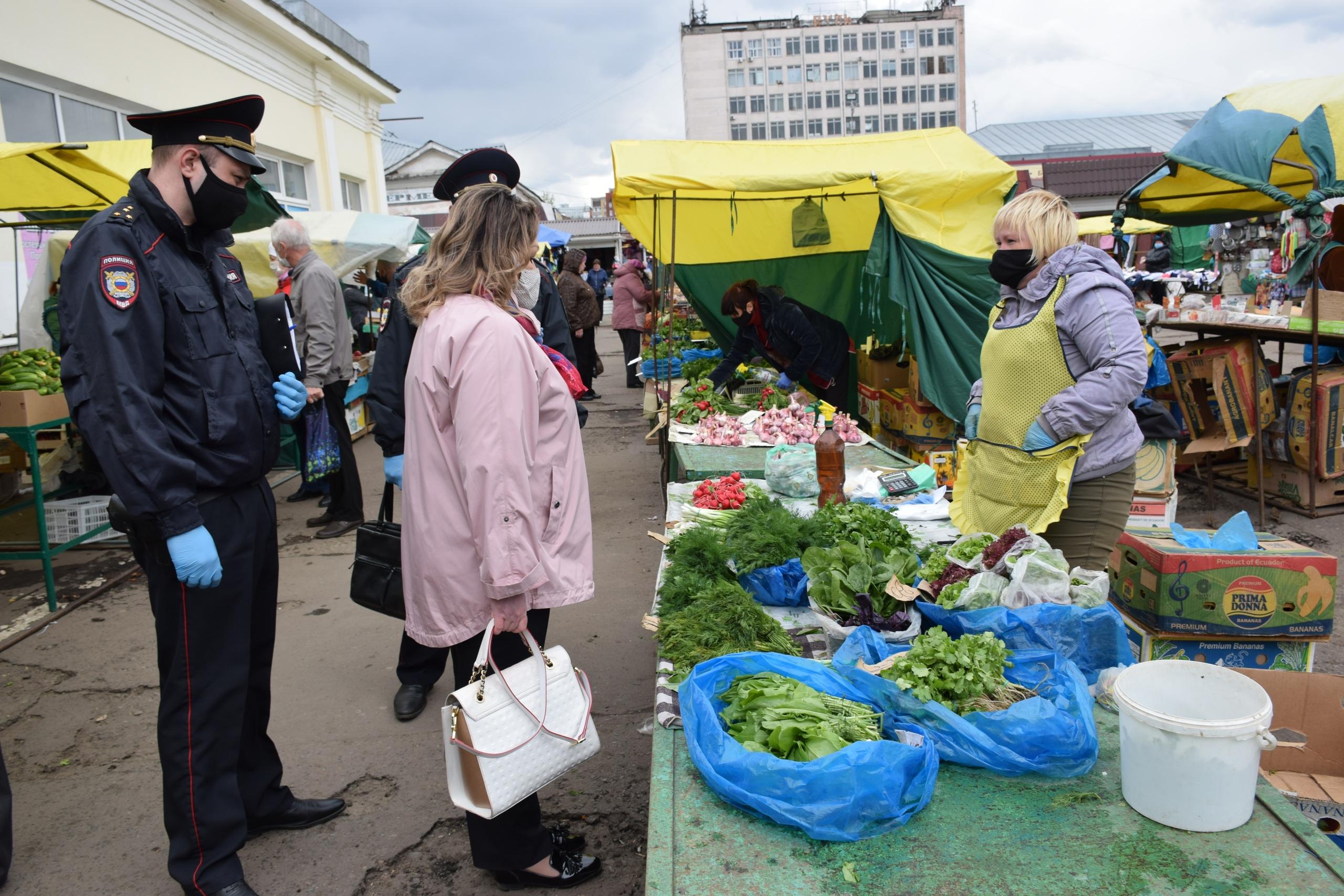 На Центральном рынке в Тамбове прошли рейдовые мероприятия