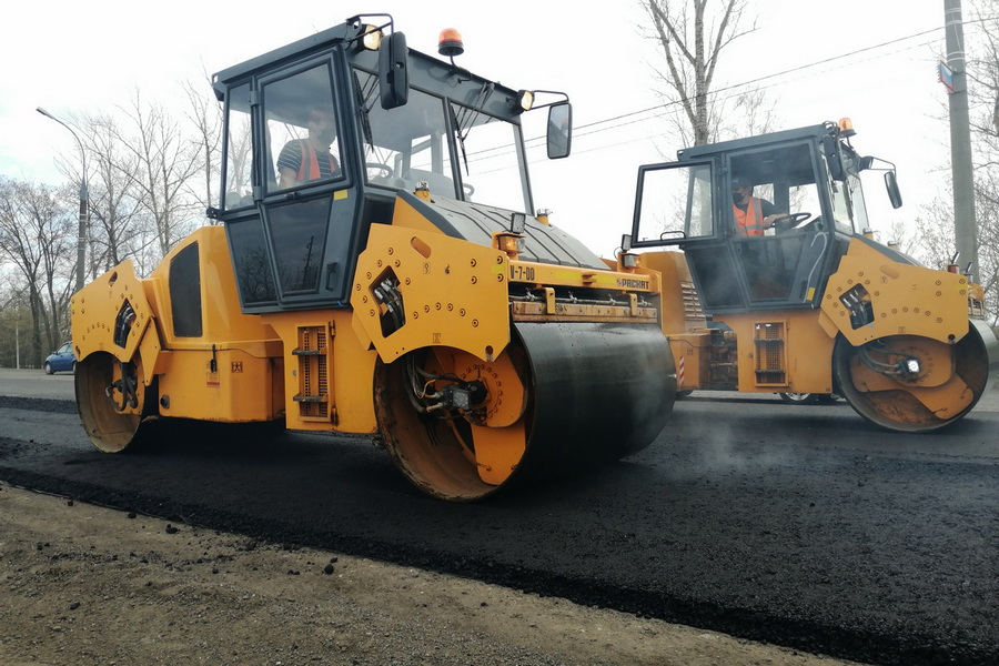 В Тамбове продолжают ремонт на Рассказовском шоссе