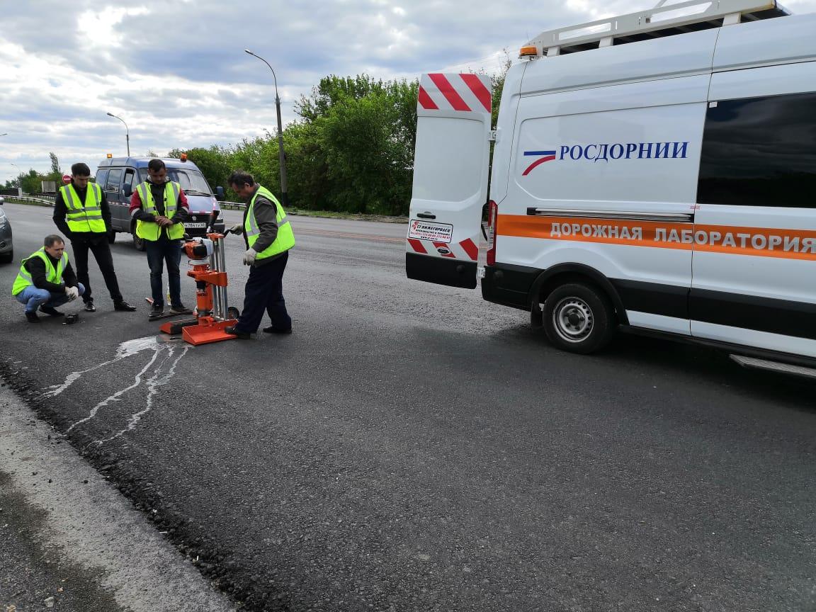 Эксперты проверили качество ремонта на Рассказовском шоссе