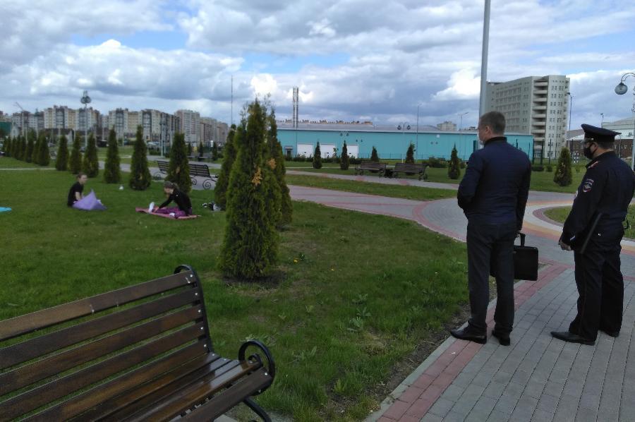 В Олимпийском парке Тамбова ловили нарушителей режима самоизоляции
