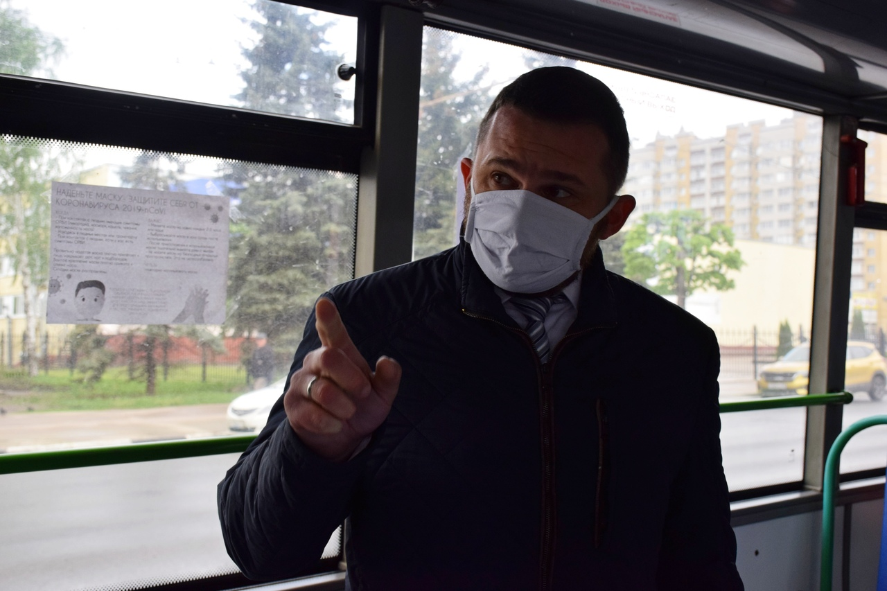 В Тамбове пассажиров общественного транспорта проверяют на наличие масок