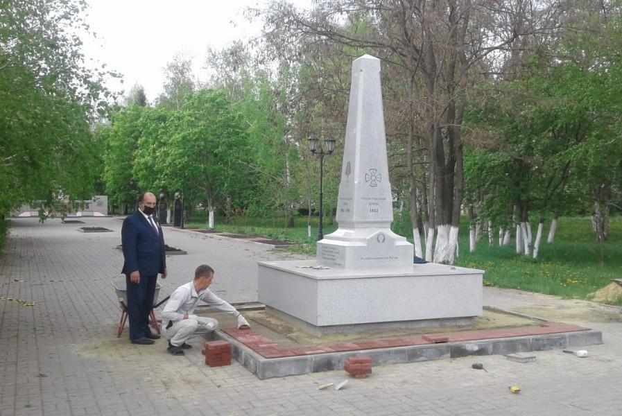 В Тамбовской области установили обелиск защитникам Отечества