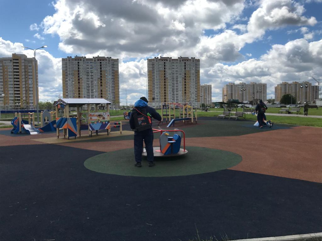 Застройщик Олимпийского парка помогает городу с дезинфекцией объекта