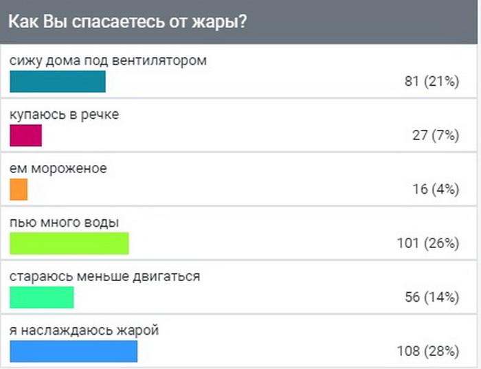 "Опрос ИА ""Онлайн Тамбов.ру"" показал: большинство тамбовчан любит жару"