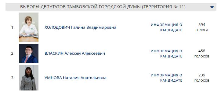 Подведены итоги предварительного голосования «Единой России» в Тамбове