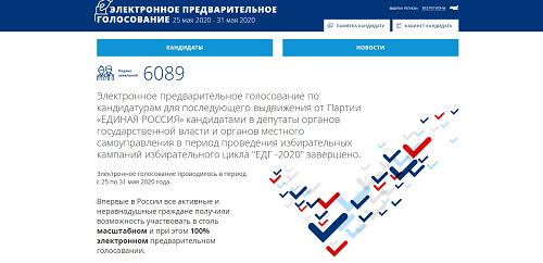 Тамбовская область вошла в ТОП-5 регионов с самой высокой явкой на онлайн-праймериз «Единой России»
