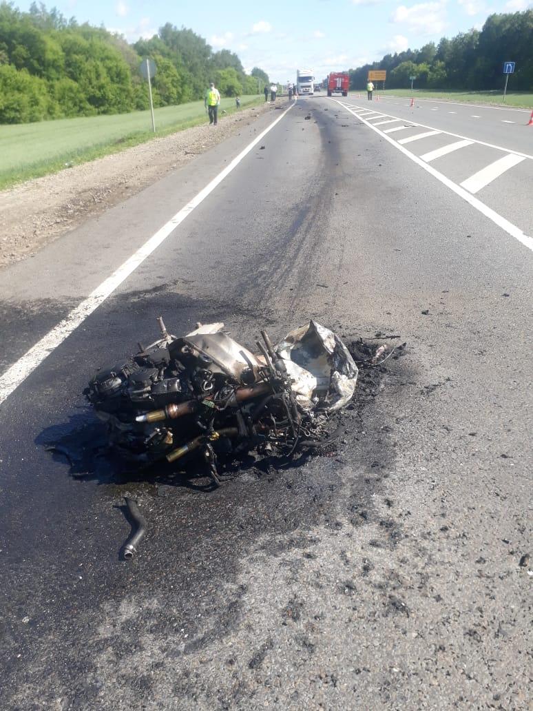 В ДТП на трассе под Знаменкой погиб мотоциклист