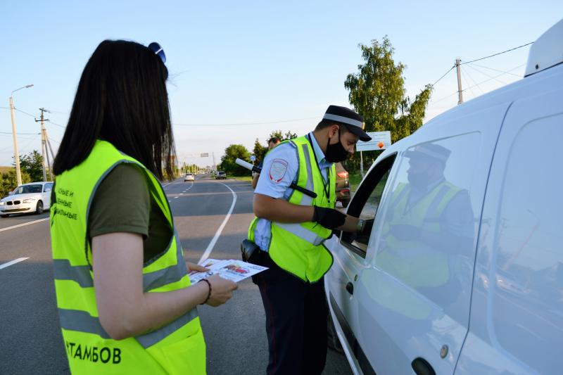 В Тамбовской области за время рейда 20 нетрезвых водителей лишились прав