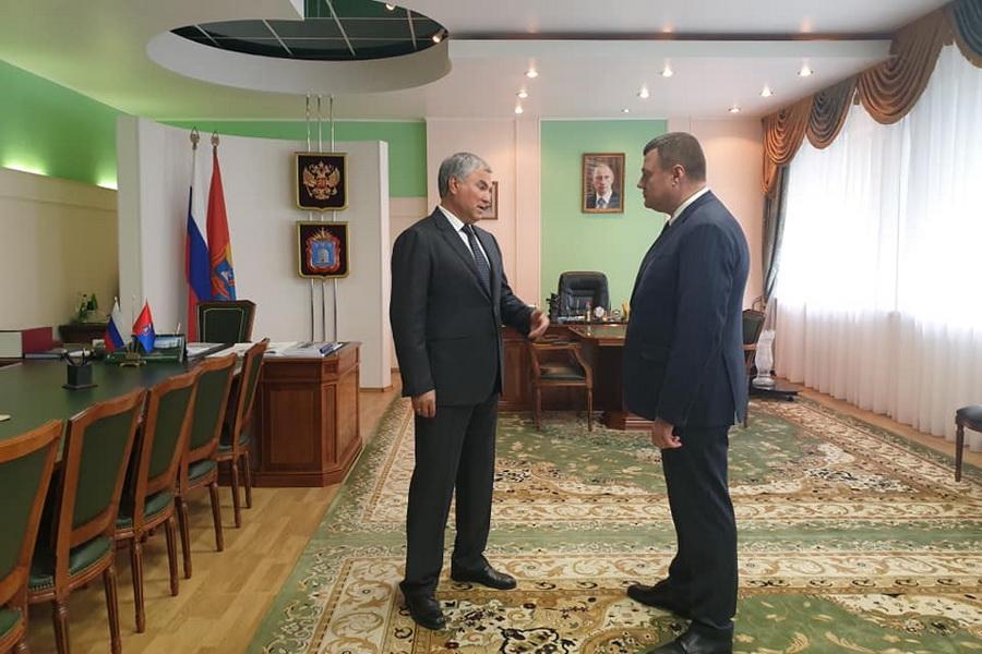 Вячеслав Володин посетил Тамбовскую область с рабочим визитом