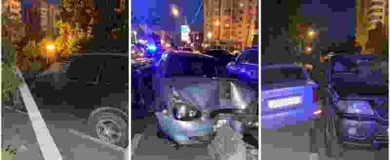 Пьяный тамбовчанин на «Приоре» врезался в иномарку и столб, который рухнул на другую машину