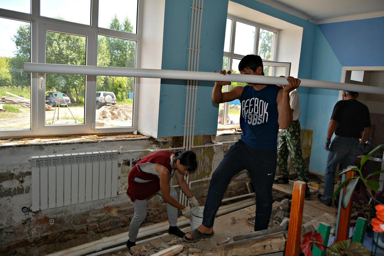 В Платоновском детском саду продолжается капитальный ремонт