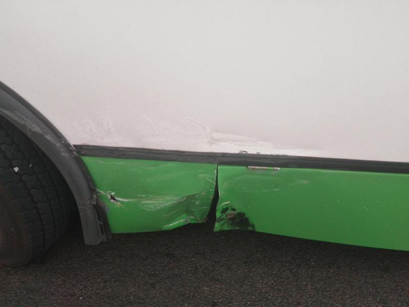 В Тамбове автобус столкнулся с легковушкой