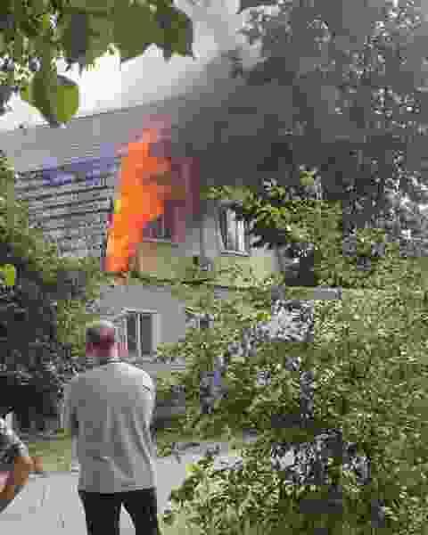 В Тамбове произошёл пожар в частном доме